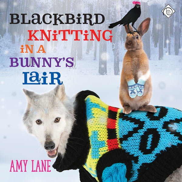 Blackbird Knitting in a Bunny's Lair