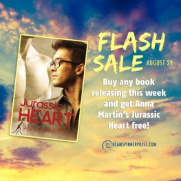 Flash Sale: Buy Any Book Releasing This Week and Get Anna Martin's Jurassic Heart Free