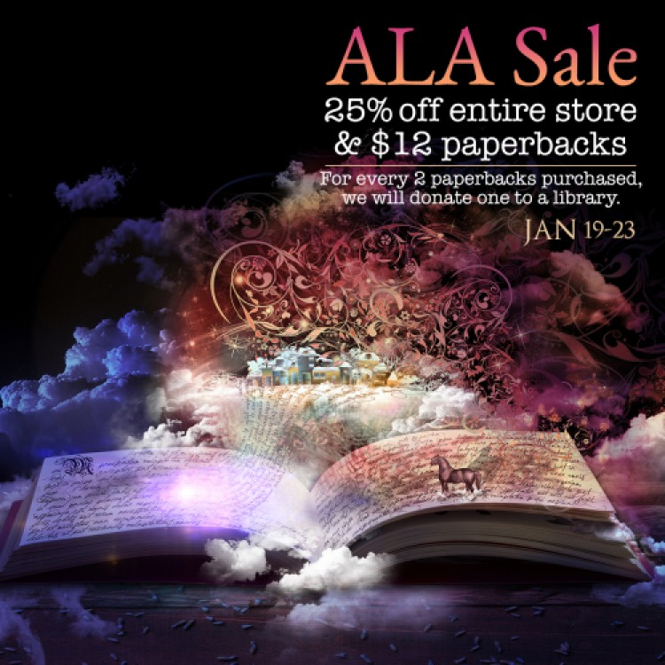 ALA Sale 25% Off Store, $12 Paperbacks, and Paperback Donations to Libraries