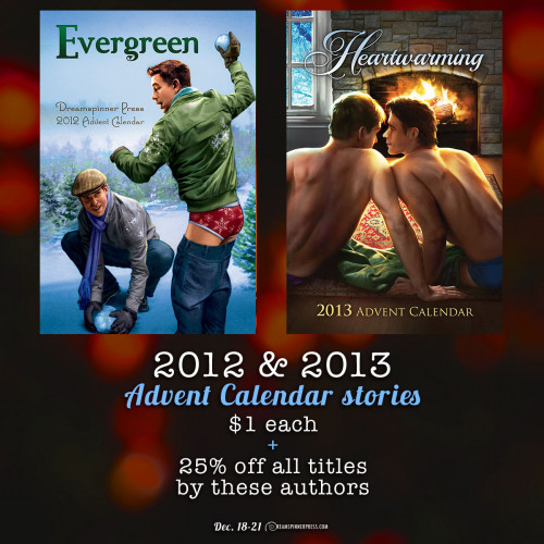 2012 & 2013 Advent Calendar Stories $1 Each and 25% Off All Other Titles By These Authors