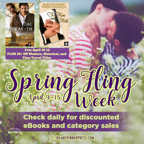 Spring Fling: 30% Off Western, Historical, and Time Travel Titles (Plus 2 Free eBooks!)
