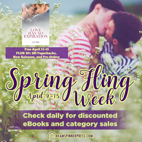 Spring Fling: 30% Off Paperbacks, New Releases, and Upcoming Titles and a Free eBook by C.S. Poe